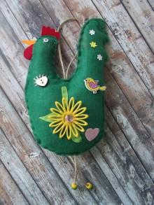 Dekorácie - zdobená sliepka č. 2 - 7825464_