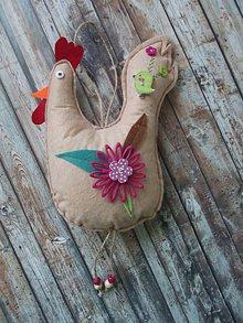 Dekorácie - zdobená sliepka č. 5 - 7827399_