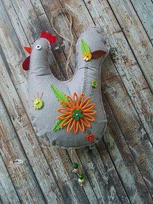 Dekorácie - zdobená sliepka č. 6 - 7827411_