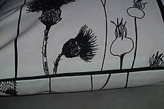 Úžitkový textil - Vankúš Čierne steblá - 7826426_