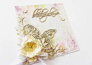 Papiernictvo - pohľadnica svadobná - 7824291_