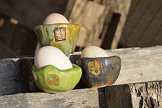 Dekorácie - miska na kraslice, malá, zeleno hnedošedé  TRIO-SET - 7825628_