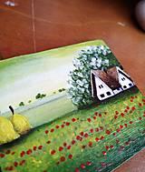 Magnetky - Vlčie maky - miniatúrna maľba - 7825287_