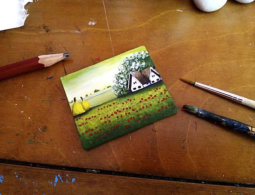Vlčie maky - miniatúrna maľba