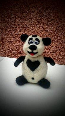 Hračky - Panda z ovčieho rúna - 7826921_