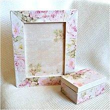 Rámiky - Svadobný rámik s krabičkou na prstienky - 7825932_