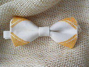 Doplnky - Vyšívaný žltý motýlik - 7825068_