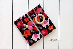 Detské doplnky - Slintáčiky ružové sloníky - návleky na ergonomický nosič - 7826963_