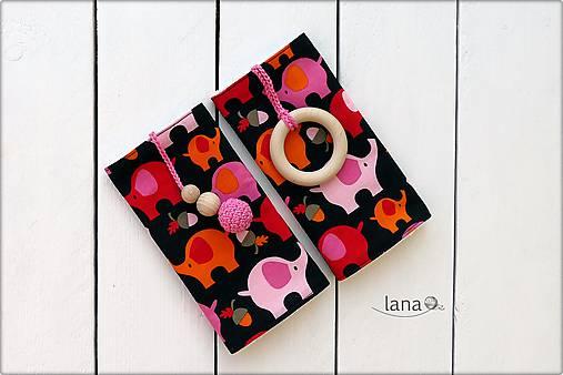 Slintáčiky ružové sloníky - návleky na ergonomický nosič
