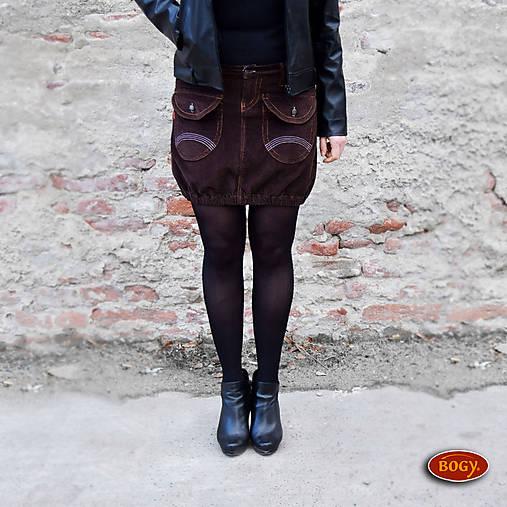 c82f02254b8f Hnědá manšestrová sukně s kapsami
