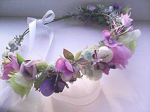 """Ozdoby do vlasov - Kvetinový venček do vlasov """"...svieži mintový... - 7825977_"""