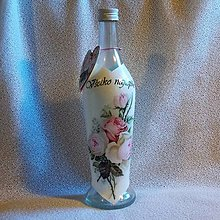 Nádoby - Darčeková fľaša Jarke k jubileu - 7827528_