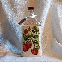 Nádoby - Darčeková fľaša na pálenku Jahodovica - 7827578_