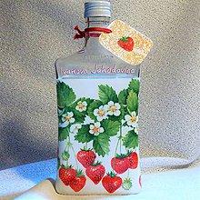 Nádoby - Darčeková fľaša na pálenku Ivanova Jahodovica - 7827600_