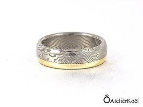Prstene - Prsten Eileithýia se zlatým proužkem - 7824893_