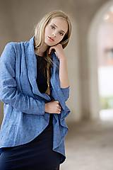 Mikiny - Lněný cardigan - 7824394_