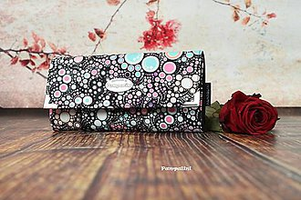 Peňaženky - Růžové bublinky - 7826153_