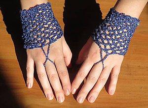 Iné oblečenie - Háčkované ozdobné rukavičky - 7826819_