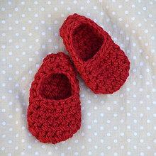 Topánočky - Minipapučky...červené - 7825208_