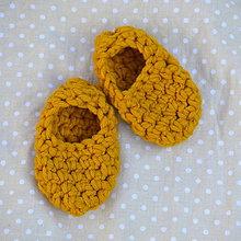 Topánočky - Minipapučky..zlaté - 7825221_