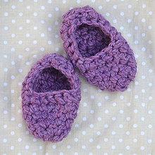 Topánočky - Minipapučky...ametystové - 7826767_
