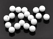 Korálky - Plastové korálky biele 8mm (balíček 30ks) - 7826333_