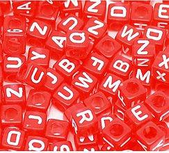 Korálky - Korálky abeceda kocky (balíček 500ks) - 7826308_