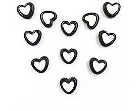 Korálky - Plastovo korálky čierne 8x8mm (balíček 10ks) - 7826316_