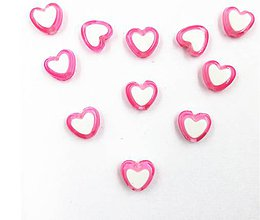 Korálky - Plastovo korálky rúžové 8x8mm (balíček 10ks) - 7826317_
