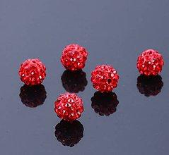 Korálky - Disco korálka červená 10mm - 7826339_