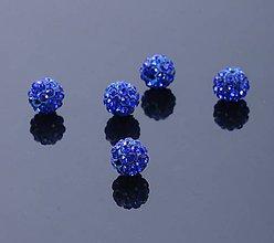 Korálky - Disco korálka modrá 10mm - 7826342_