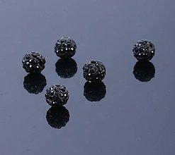 Korálky - Disco korálka čierna 10mm - 7826346_