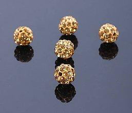 Korálky - Disco korálka béžová 10mm - 7826354_