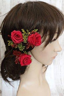 Ozdoby do vlasov - Vlásenky z ruží - 7826750_