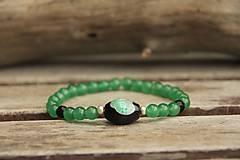 Náramky - Náramok z minerálu achát, onyx a jadeit - 7826917_