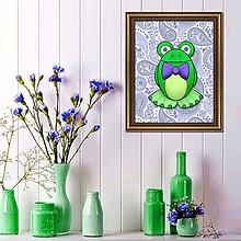 Obrázky - Žabiak s mašličkou - dekoratívne baktérie - 7824388_