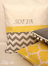 Úžitkový textil - vankúš s vyšitým menom - 7832672_