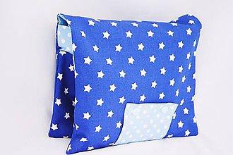Detské doplnky - Organizér na plienky tmavo-modrý hviezdičkový - 7829713_