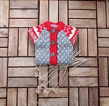 Detské oblečenie - Dupačky červeno - sivé - 7829990_