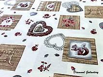 Textil - Bavlna režná - lesný mix - cena za 10 cm - 7828942_
