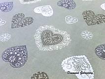 Textil - Bavlna režná - srdiečka III - cena za 10 cm - 7828983_