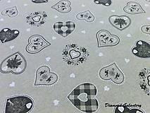 Textil - Bavlna režná - srdiečka mix III - cena za 10 cm - 7828993_