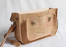 Veľké tašky - Aktovka korková natural - 7832217_