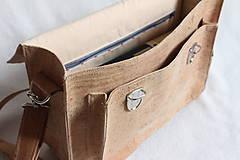 Veľké tašky - Aktovka korková natural - 7832220_