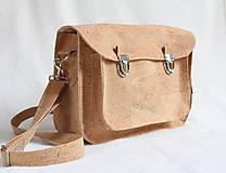Veľké tašky - Aktovka korková natural - 7832221_