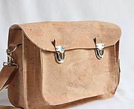 Veľké tašky - Aktovka korková natural - 7832223_