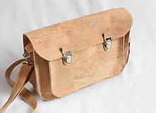 Veľké tašky - Aktovka korková natural - 7832225_