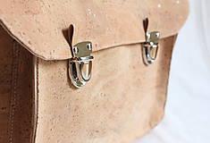 Veľké tašky - Aktovka korková natural - 7832333_