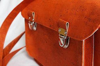 Veľké tašky - Aktovka korková sýto oranžová - 7832353_