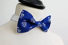 Doplnky - pánsky folk modrý motýlik - 7832682_